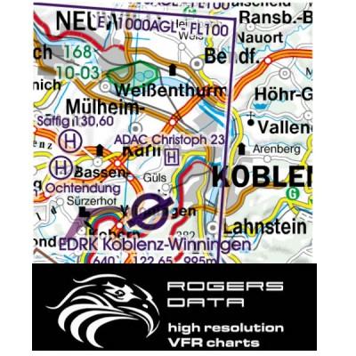 ROGERS DATA VFR Luftfahrtkarten 2017