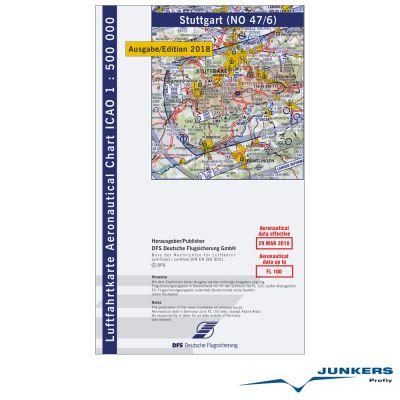 ICAO-Karte, Blatt Stuttgart (Ausgabe 2018), Motorflug 1:500.000
