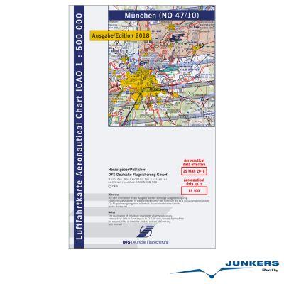 ICAO-Karte, Blatt München (Ausgabe 2018), Motorflug 1:500.000