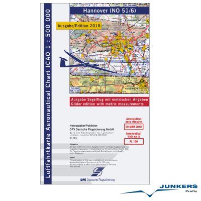 ICAO-Karte, Blatt Hannover (Ausgabe 2018), Segelflug 1:500.000