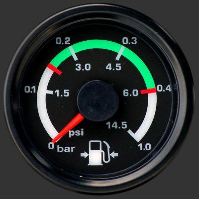 Road Rundinstrument für Benzindruck 52 mm