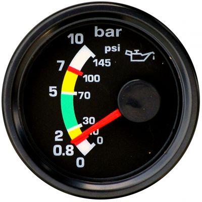 Road Rundinstrument Öldruckanzeige 52 mm bis 10 Bar