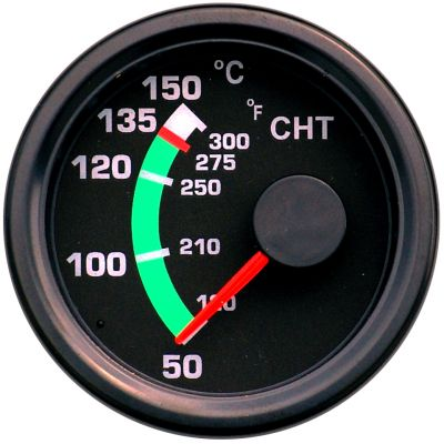 Road Rundinstrument für Zylinderkopftemperatur CHT 52 mm bis 150 °C