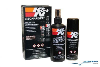 K&N Luftfilter Reinigungssatz mit 204 ml Sprühdose Öl und 355 ml Reiniger