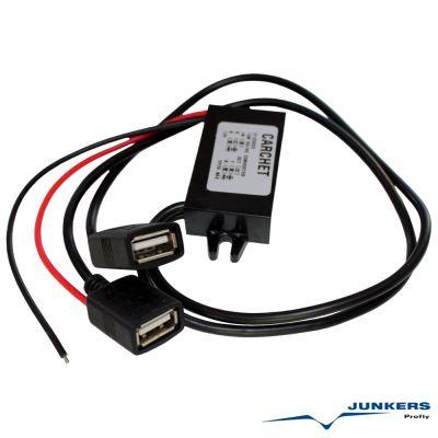 DC/DC Converter 12V to 5V 3A 15W Dual USB Power Konverter