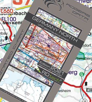 Deutschland Nord VFR Luftfahrtkarte – ICAO Karte 500k 2021