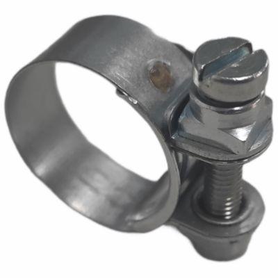 Normaclamp rundziehende Schlauchschelle, Stahl verzinkt 6,0 - 8,0mm Bandbreite 7mm