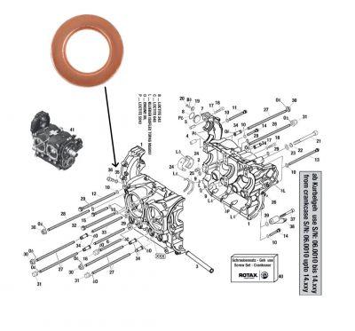 Dichtring für Kurbelwellengehäuse Verschlussschraube A 8X13 DIN 7603