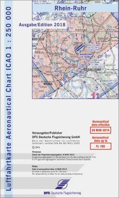 ICAO-Karte 2018, 1:250.000, Blatt Rhein-Ruhr