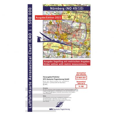 ICAO-Karte, Blatt Nürnberg (Ausgabe 2021), Segelflug 1:500.000