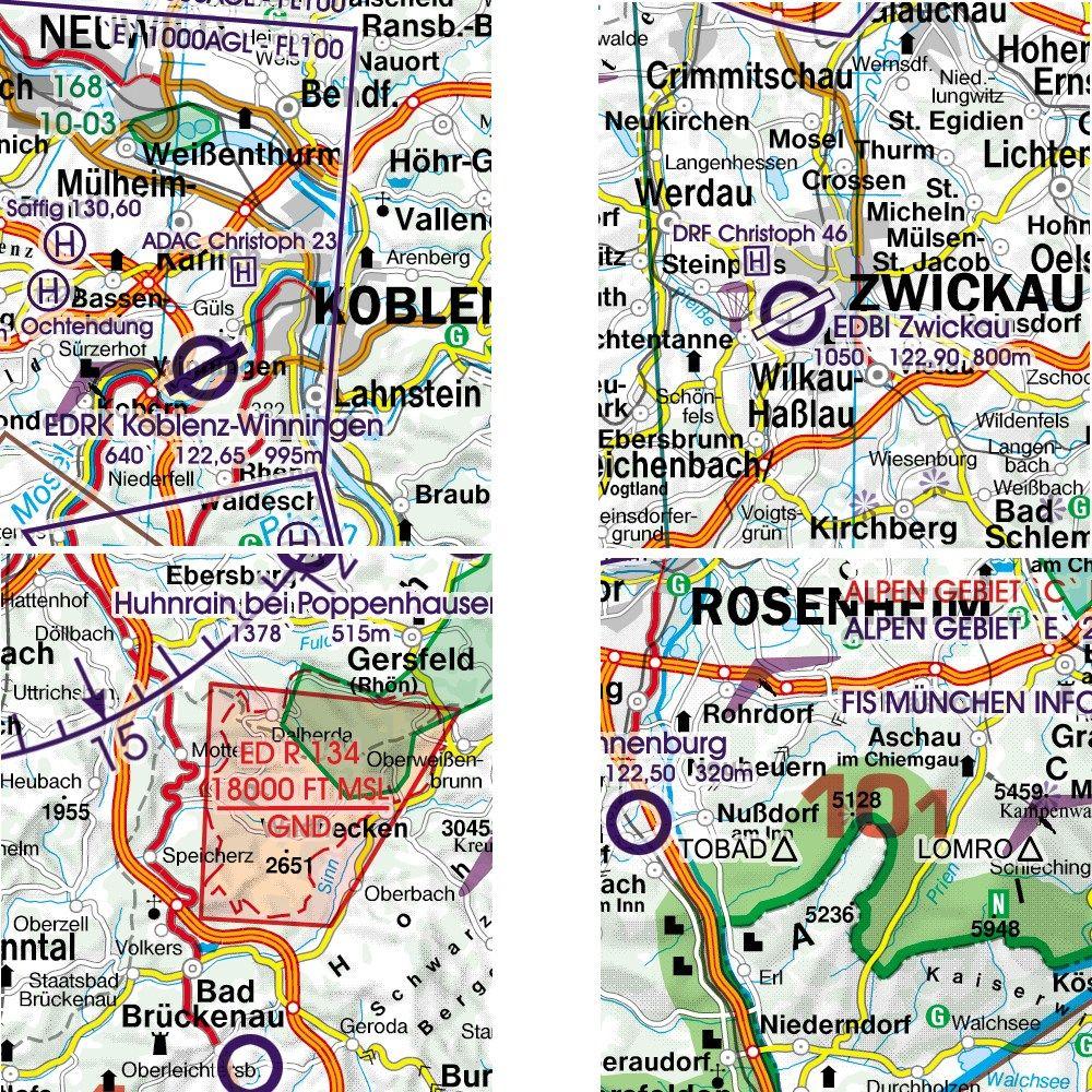 Deutschland Nord Vfr Luftfahrtkarte Icao Karte 500k 2019