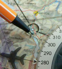 Rogers Data Navigationszirkel 500 für Karten im Maßstab 1:500.000