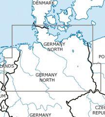 VFR Luftfahrtkarte Deutschland Nord – Germany North 500k 2018