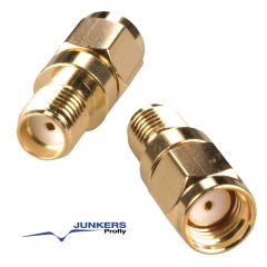 SMA-Reverse-Adapter vergoldet - SMA-Reverse-Stecker auf SMA-Standard-Buchse