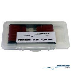 Einstelllehre Prüflehre | 0,45 - 1,50 mm | 20-tlg.