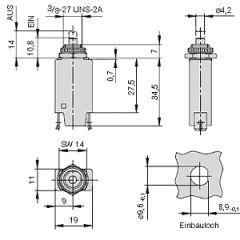 ETA Sicherung - Schutzschalter 1140 - 5A