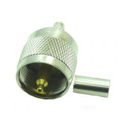 UHF Chrimpstecker für RG58 Aircell Kabel