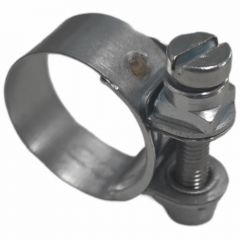 Normaclamp rundziehende Schlauchschelle, Stahl verzinkt, 23,0 - 25,0mm, Bandbreite 13mm