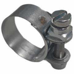 Normaclamp rundziehende Schlauchschelle, Stahl verzinkt 13,0 - 15,0mm, Bandbreite 9mm