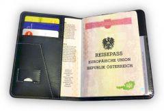 Pilot Passport Set - Leder Passporthülle & Kofferanhänger