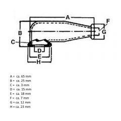 ACS Batterie Polabdeckung Polkappe Silikon Black