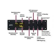 f.u.n.k.e. AVIONICS Transponder TRT 800A OLED, A/C/S