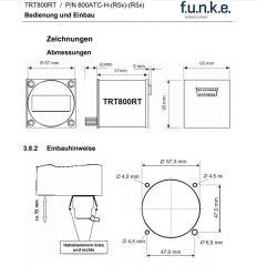 Doppelsitzer-Bedienteil TRT800RT-LCD, 57mm Rundgehäuse