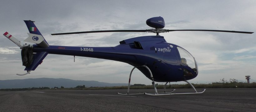 Zefhir Helicopter with Junkers Profly HRS 2000 Emergency Parachute